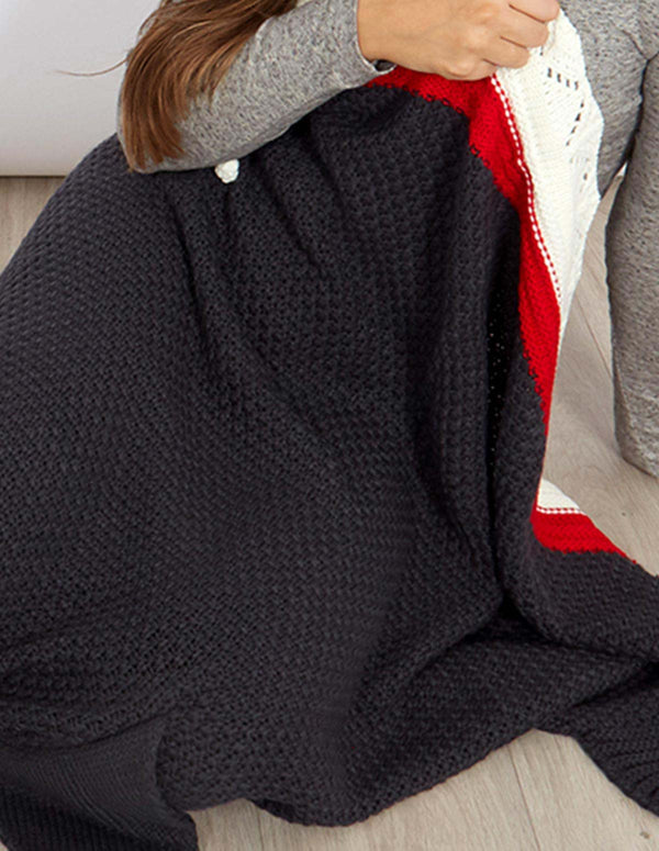 CHARLIE - Grey Whale Tail Blanket