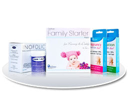 Delfran Family Starter Kit (Ovulation and pregnancy strips, Sperm-i-Prove and Inofolic