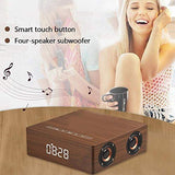 Portable Alarm Clock with Bluetooth Speaker