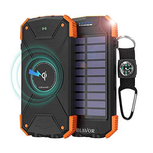 Solar Portable Charger 10000mAh Splash proof