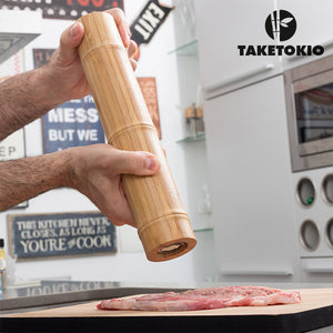 TakeTokio Bamboo Salt and Pepper Mill
