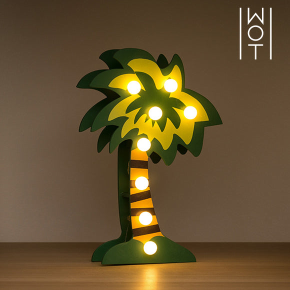 Wagon Trend Decorative Wooden Palm Tree (8 LED)