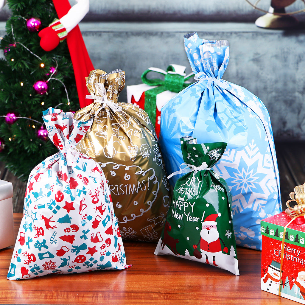 Christmas Gift Bags Images.Christmas Drawstring Gift Bags No More Wrapping Gifts