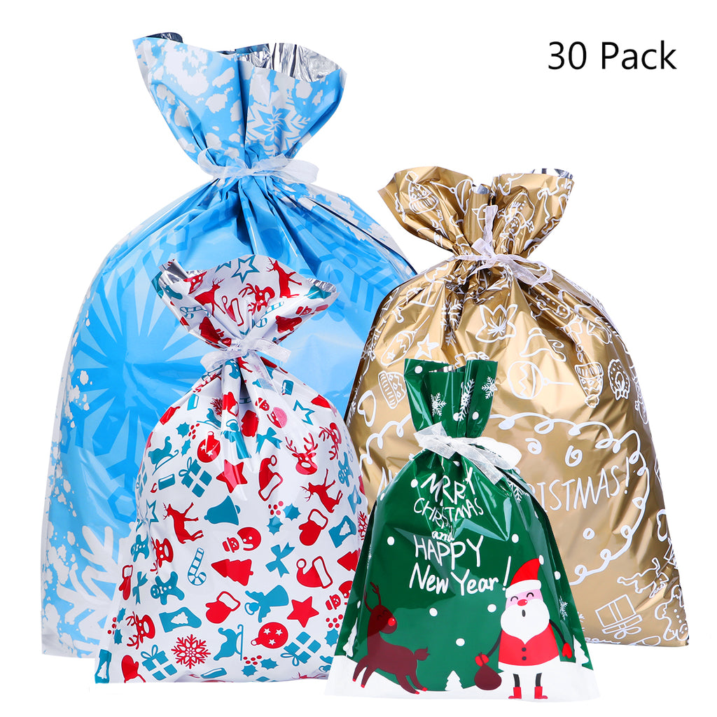 Christmas Gift Bags.Christmas Drawstring Gift Bags No More Wrapping Gifts