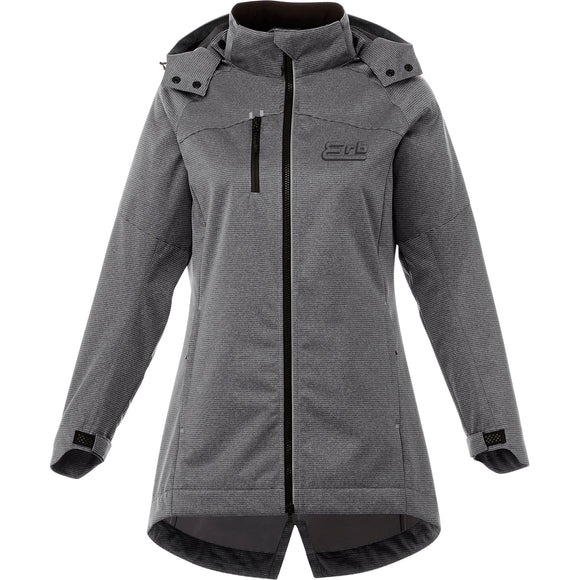 Ladies Bergamo Hooded Softshell Jacket