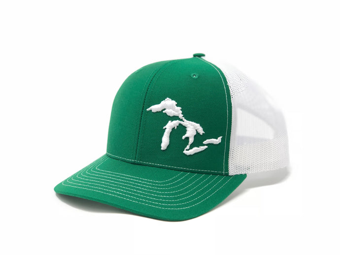 Great Lakes Trucker Hat Green/White