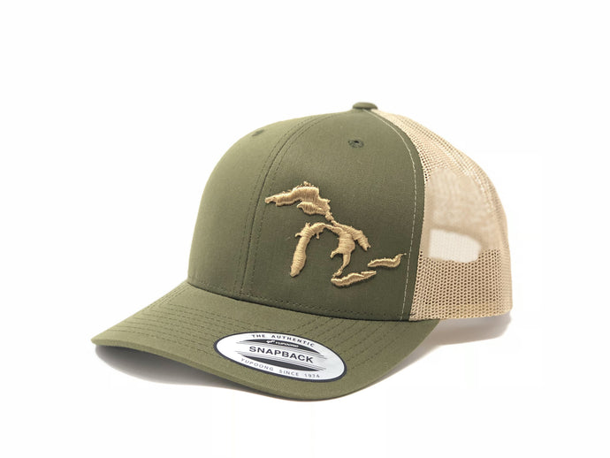 Great Lakes Trucker Hat Moss/Khaki