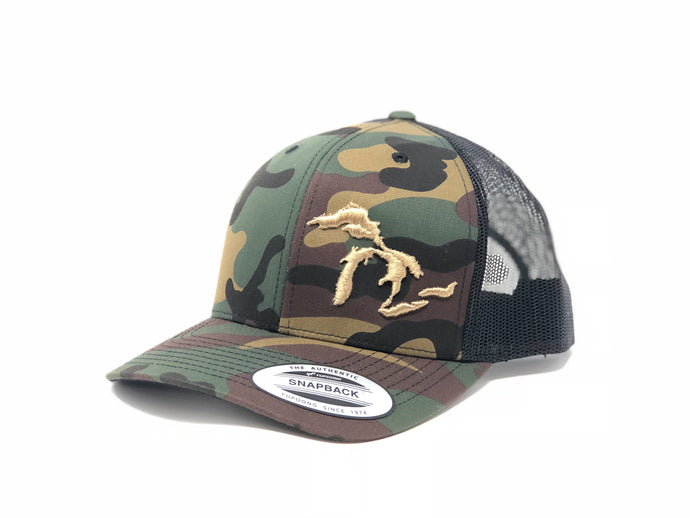 Great Lakes Trucker Hat Camo