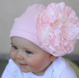 Baby Dolce Pink Flower Baby Hat