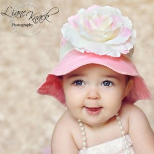Bubble Gum Kisses Baby Sun Hat