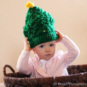Christmas Tree Baby Hat