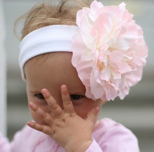 Cotton Candy Flower Baby Headband