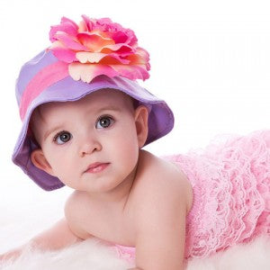 Grape Sorbet Baby Sun Hat