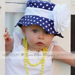 Polka Dot Princess Baby Sun Hat