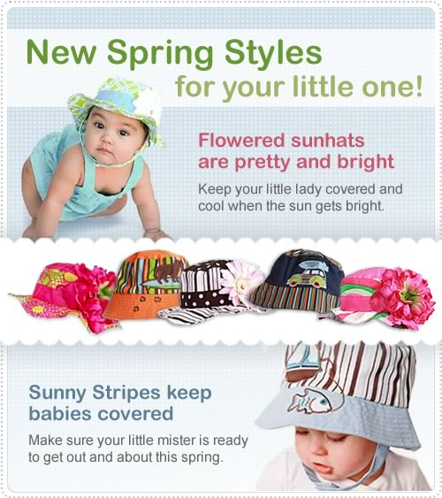 New Spring Sunhats for Babies and Kids