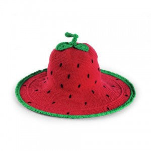 Strawberry Sun Hat for Toddler Girls