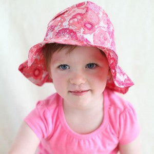 Summer Rosie Printed Sun Hat for Baby and Toddler Girls