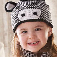 Z is for Zebra Knit Hat for Boy or Girl