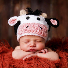 Baby Cow Knit Hat