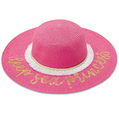 Woven Mermaid Sparkle Sun Hats - Pink, Blue or White Toddler Girls Sun Hat icon