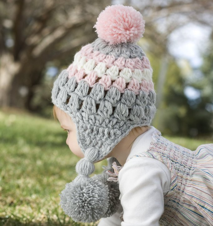 Ear-Flap Lilly Baby Girl Hat