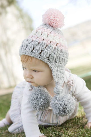 Ear Flap Lilly Baby Girl Hat Baby Sale
