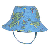 Turtle Print Baby Boy Sun Hat UPF 50 - Baby Boy and Toddler Boy Sun Hat