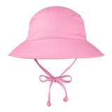 Pink Swim Hat for Baby and Toddler Girls with Sun Protection