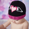 Zooni Hearts-a-Flutter Baby and Toddler Girl Beanie Hat