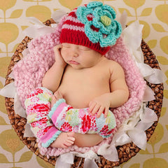April Showers Baby or Toddler Girl Beanie- Leg Warmers and Mittens Sold Separate icon