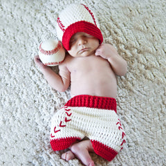 Baby Baseball Visor Hat and Shorts Set - Newborn Boy