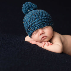 Blue Baby Speckled Pom Pom Beanie icon