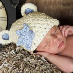 Chunky Sugar Bear Baby Boy Beanie Hat icon