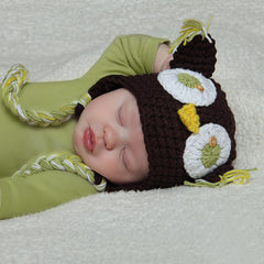 Sweet Crochet Owl Hat - Dark Brown icon