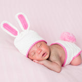 Beautiful Baby Bunny Hat and Diaper Cover Set - Newborn Girls