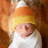Candy Corn Cutie - Newborn Gender Neutral Halloween Hat