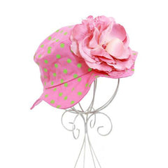 Rosie Pink Lady Polka Dot Baby Sun Hat icon