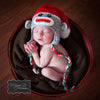 Sweet Christmas Sock Monkey Grey Baby Hat