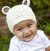 Milk and Sugar Bear Hat for Baby and Toddler Boys