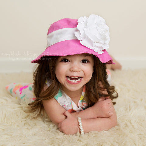 ... Mademoiselle Hot Pink Baby and Toddler Girl Sun Hat ... 012f7a580b7