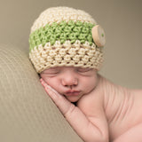 Earthy Baby Boy Wooden Button Beanie
