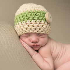Earthy Baby Boy Wooden Button Beanie icon
