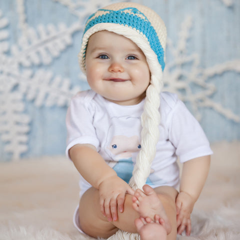 eaa9a2d696b ... Baby Ice Queen White Hair Pony Tail Hat ...