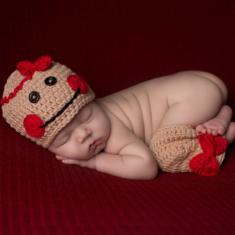 Miss Gingerbread Beanie with Leg Warmers- Newborn Girls