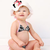Girly Geranium Flower Baby Sun Hat
