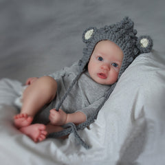 Cuddly Little Mouse Baby Hat - Soft Gray icon