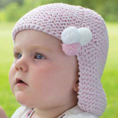Pipper Mini Pom Pom Pink Baby Girl's Beanie icon