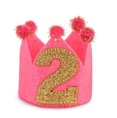 I'm TWO Gold Glitter Birthday Cone Headband icon