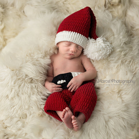 c12fdad47fee3 Jolly Baby Santa Claus Hat and Pants SET