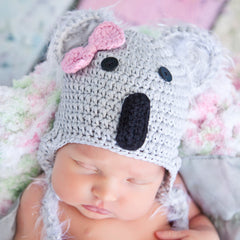 Koala Kutie Crochet Baby Girl Animal Hat icon